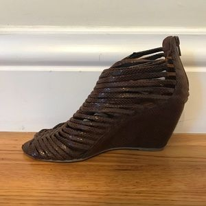 Jeffrey Campbell Brown Wedge, Size 10